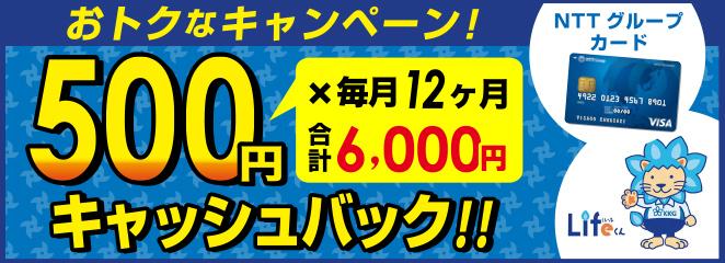 NTTコラボクレジットカードページ